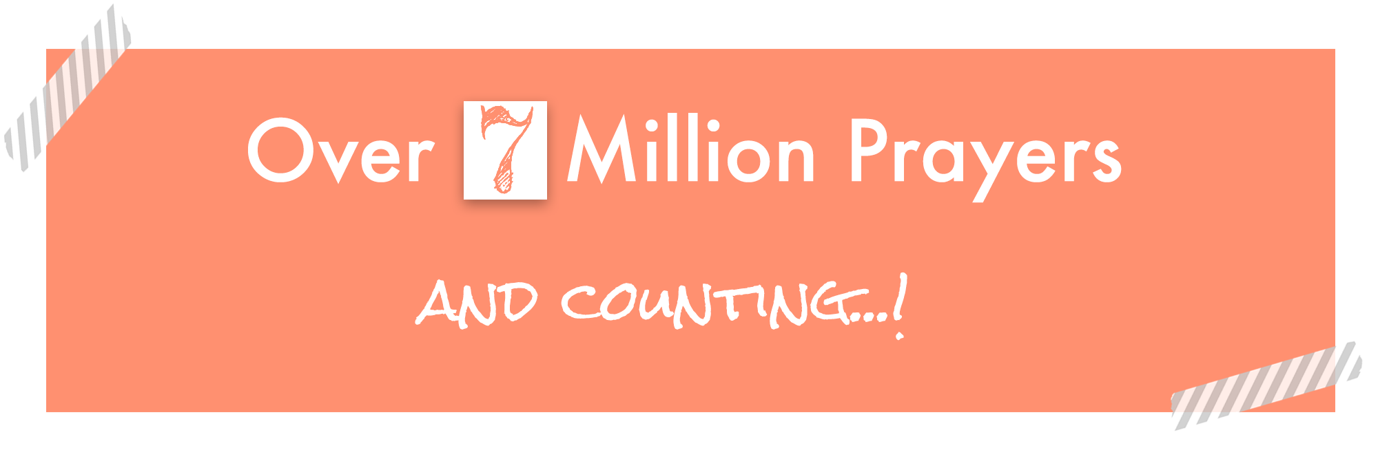 7 million prayer banner
